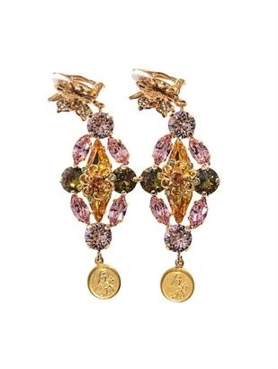 Dolce & Gabbana Gold-plated embellished earrings