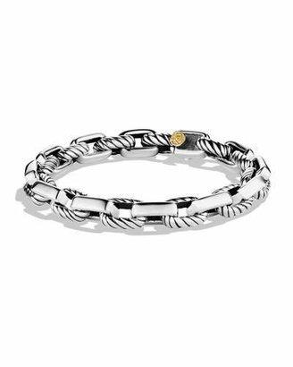 David Yurman Empire Link Bracelet with Gold $875 thestylecure.com
