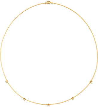 Paul Morelli 18k Yellow Gold Rope 5-Diamond Necklace, 1.10 TCW