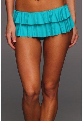 MICHAEL Michael Kors Ruffle Solids Hipster Bottom Women's Swimwear