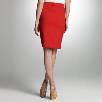 Jones New York Color Denim Skirt