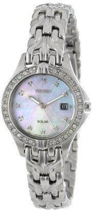 Seiko Women's SUT083 Excelsior Solar Swarovski Crystals Japanese Quartz Watch $179 thestylecure.com