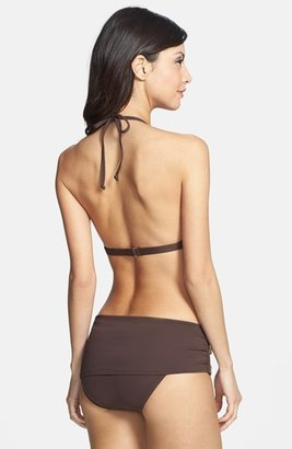 MICHAEL Michael Kors 'Tunisia' Zip Detail Triangle Bikini Top
