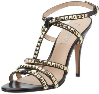 Pura Lopez Women's Decorated T-Strap Sandal
