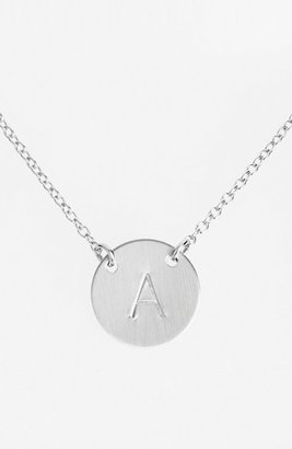 Women's Nashelle Sterling Silver Initial Disc Necklace $78 thestylecure.com