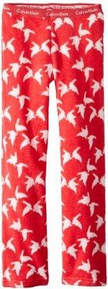 Calvin Klein Girls 7-16 Plush Butterfly Pajama Pant