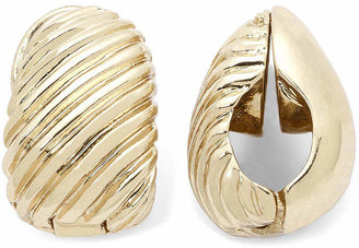 MONET JEWELRY Monet Gold-Tone Swirled Clip-On Earrings
