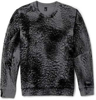 McQ Alexander McQueen Textured Cotton-Blend Sweatshirt