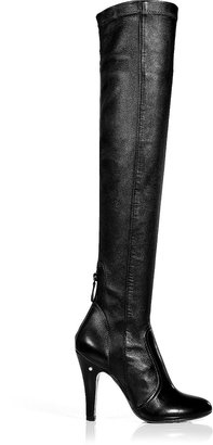 Laurence Dacade Stretch Leather Over-the-Knee Boots in Black
