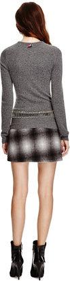 Derek Lam 10 Crosby Ombre Plaid Wool-Blend Asymmetric Skirt