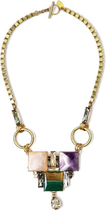 Anton Heunis Square Pattern Crystal Necklace