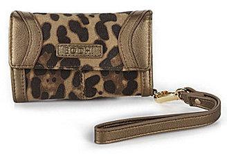 Bodhi Cheetah Print Suede iPhone Wristlet Wallet