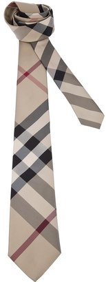 Burberry check woven tie