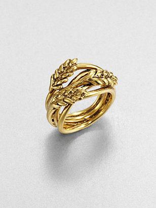 Aurelie Bidermann Wraparound Wheat Ring