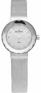 Skagen Stainless Steel Mesh Bracelet With Silver Dial Watch