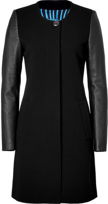 Emilio Pucci Black Coat with Lambskin Sleeves
