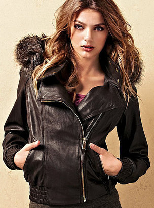 Victoria's Secret Leather Bomber Jacket