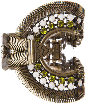Lionette by Noa Sade Soho Plated Brass Bracelet in Gold, White & Olive