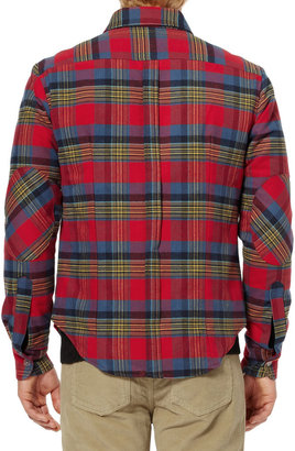 Band Of Outsiders Padded Cotton-Flannel Shirt Jacket