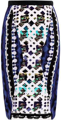 Peter Pilotto Lace-print pencil skirt