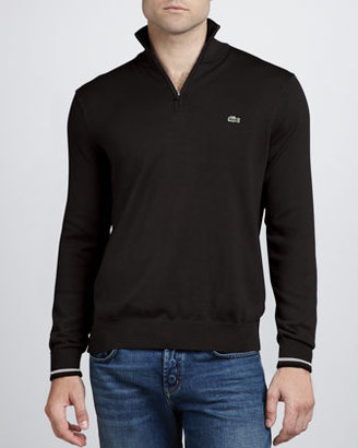 Lacoste Half-Zip Sweater, Black