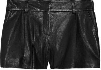 Diane von Furstenberg Naples leather shorts