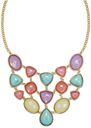 Charter Club Gold-Tone Multicolor Bib Necklace