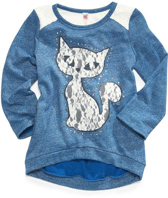 Beautees Kids Shirt, Girls Lace Applique Top