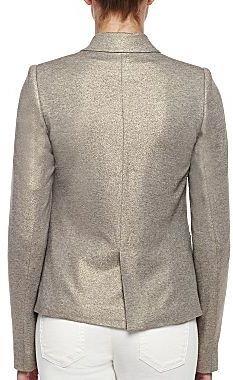 Mng By Mango® Gray Shimmer Blazer