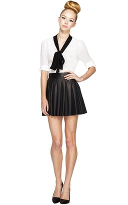 Alice + Olivia Arie Tie Neck Blouse