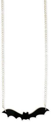 Z Designs Bar Bat Pendant Necklace