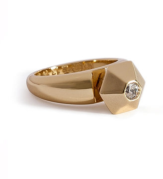 Maison Martin Margiela Brass Ring with Crystal Stone