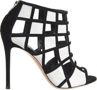 Gianvito Rossi Geometric Cutout Bootie Sandals