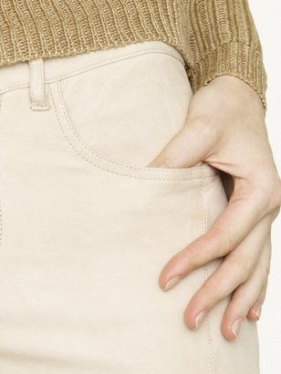 Ralph Lauren Black Label Denim Leather 888 5-Pocket Moto Jean
