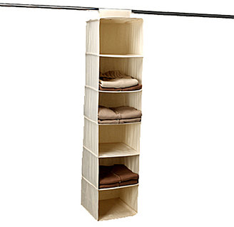Container Store 6-Compartment Canvas Hanging Sweater Bag Natural