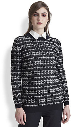 Marni Stripe-Patterned Wool & Cashmere-Blend Sweater