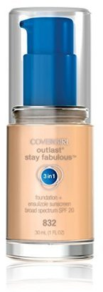 COVERGIRL Outlast Stay Fabulous 3-in-1 All Day Foundation Nude Beige, 1 fl oz (30 ml) $9.35 thestylecure.com