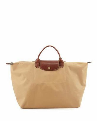Longchamp Le Pliage Large Travel Bag, Beige $135 thestylecure.com