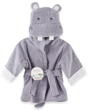 Baby Aspen Hug-A lot-Amus Hooded Hippo Robe - Lavender