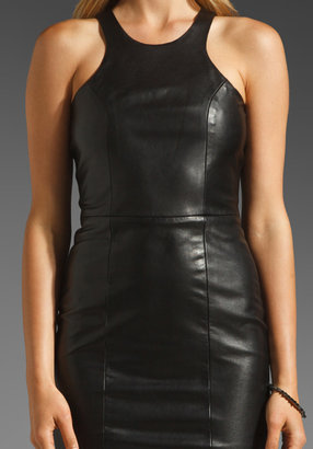 Mason by Michelle Mason Leather Front Tank Dress