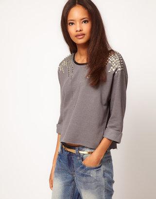Asos Sweatshirt with Stud Shoulder