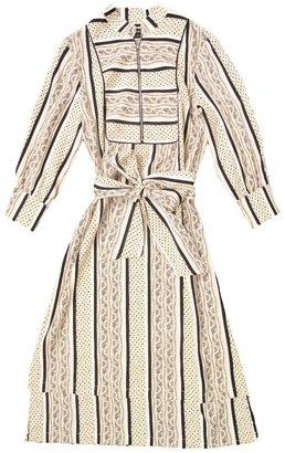 Suno Layered Stripe Dress