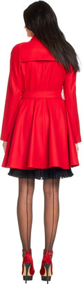 Ted Baker Albine Trench Coat Red