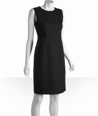 Tahari black and navy sleeveless 'Meena' shift dress