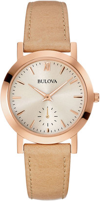 Bulova Womens Brown Leather Strap Watch 97L146 $199 thestylecure.com