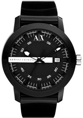 Armani Exchange Rubber Strap Watch
