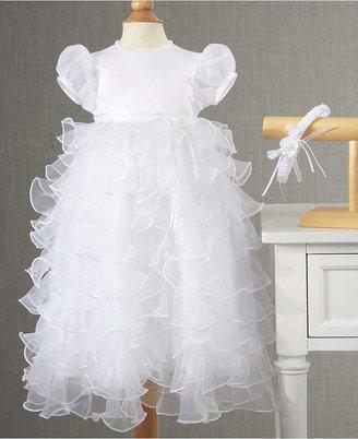 Lauren Madison Baby Girls' 2-Piece Headband & Tiered Christening Dress Set $80 thestylecure.com