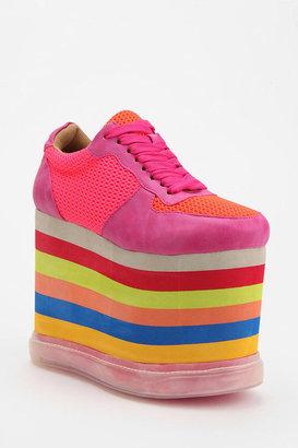Jeffrey Campbell Rainbow Highlight Flatform-Sneaker