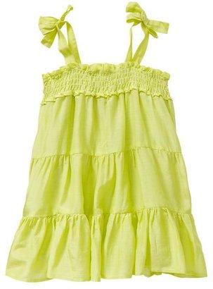 Gap Smocked ruffle dress