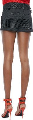 Alice + Olivia Dot-Print Cuffed Shorts